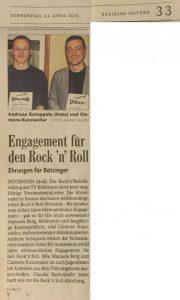 Ehrennadeln des BWRRV für Bötzinger Rock'n'Roller