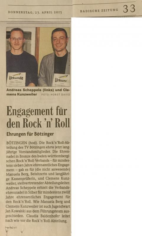 You are currently viewing Ehrennadeln des BWRRV für Bötzinger Rock'n'Roller