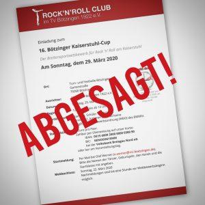 Abgesagt! – 16. Kaiserstuhl-Cup